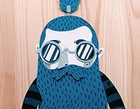 Hipster papercut