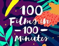 "Poster for Festival ""100 Films in 100 minutes"""
