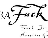 Palavra Fuck – Lettering for Frank Jorge's single