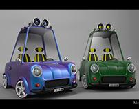 3D retro Car