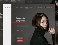 Fashion store web design #1