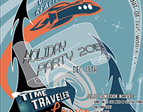 Time Traveler Lounge Holiday Event Poster
