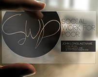 Social Work for Poor Business Card Design