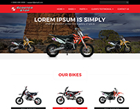 custom scooter website templates design by NEXSTAIR