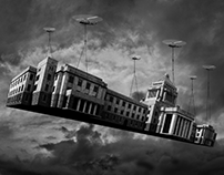 Flying capitol building