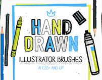 30 Hand-drawn Brushes For Illustrator