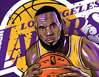 LBJ IN LAKERS