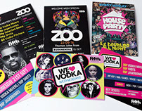 Fifth Nightclub flyers, posters etc