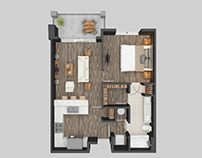 3D Floor Plan Rendering Services Miami Florida