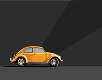 VW beetle illustration