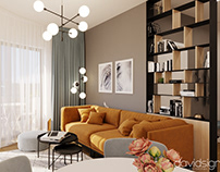 Interior design: 3-Room Apartment at West Residence, RO