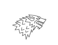 Game of Thrones : House Stark Minimalist Poster