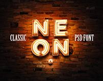 3D Neon PSD Font - Classic version