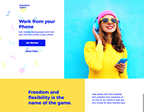 Work from Your Phone Landing Page