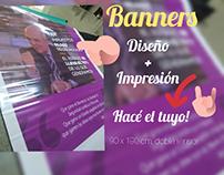 Diseño de banners / Impresión opcional