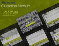 Showcase (Quotation Module) UX - UI - IxD Deraya