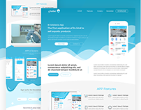 Water Products App landing page
