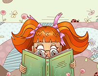little girl book reader