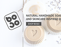 Boso Soap web design