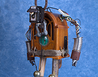 Junk Robot Sculpture