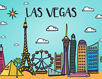 Las Vegas Vector Free Illustration