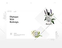 Diptyque website design