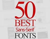 Best Sans Serif Fonts - 50 Fonts