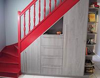 Aménagement placard sous escalier/ under stairs storage