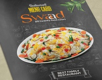 Swad Restaurant Menu Card