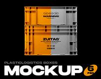 Plastic Logistics Boxes Mockup
