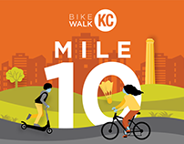 BikeWalkKC Mile 10 Anniversary Campaign