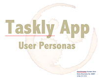 Taskly Project Management App User Personas
