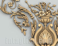 3D-model of decorative corner element for gypsum making
