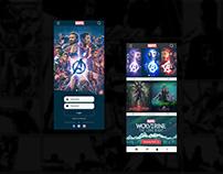 Marvel App UI Concept | Rish Designs