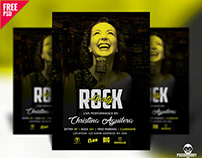 Rock Party Flyer Design PSD