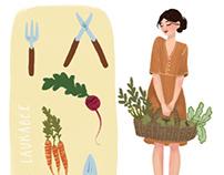 Gardener girl character
