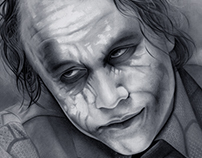 WHY SO SERIOUS ? :) Heath Ledger Pencil on paper.