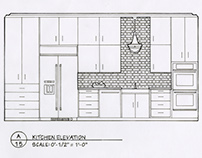 Detailed Elevation Drawings: Kitchen, Bath, Bedroom