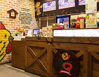 3Q Chicken Branding and Interior Design