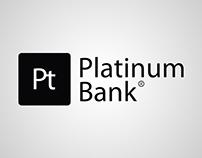Desktop calendars design for «Platinum Bank».