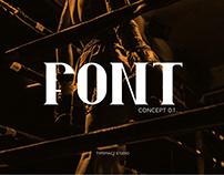 Coming Soon Font. Sans Serif Font. Concept 0.1