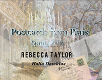Post Cards from Paris. Rebecca Taylor SS'17
