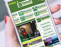 Interfaz gráfica para la web de Támesis Antioquia
