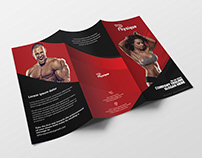 Fitness trifold brochure