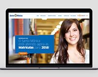 Website Centro Educacional Santa Mônica