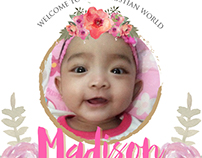 Madison Christening Invitation