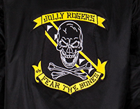Fear The Bones Bomber Jacket Artwork