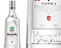 Krupnik vodka - packshot 3d