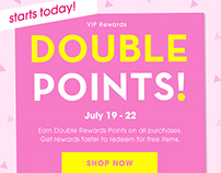 Rewards Points Promo, Complementary Email & Site Assets