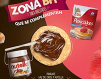 KV campaña Pancakes y Nutella